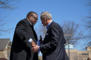 United Way of Delaware's Tyrone Jones and Tom Carper